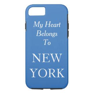 My Heart Belongs To New York Blue Custom Color iPhone 7 Case