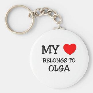 My Heart Belongs To OLGA Key Chains