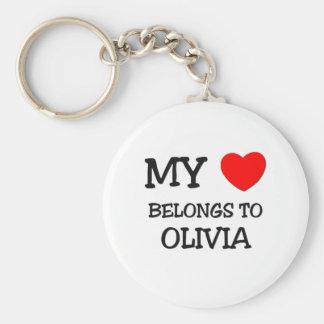 My Heart Belongs To OLIVIA Key Chain