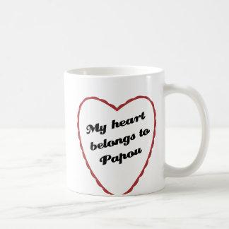 My Heart Belongs to Papou Coffee Mugs