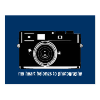 my heart belongs to photography postcard