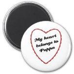 My Heart Belongs to Poppa Fridge Magnet
