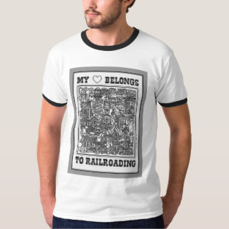 My Heart Belongs To Railroading T-shirt