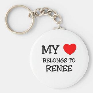 My Heart Belongs To RENEE Keychains
