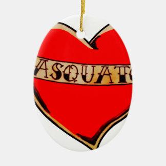 My heart belongs to sasquatch ceramic oval decoration