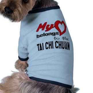 My heart belongs to the Tai Chi Chuan. Ringer Dog Shirt