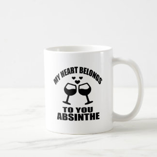 MY HEART BELONGS TO YOU ABSINTHE COFFEE MUG