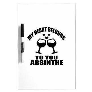 MY HEART BELONGS TO YOU ABSINTHE DRY ERASE BOARD