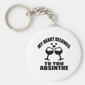 MY HEART BELONGS TO YOU ABSINTHE KEY RING