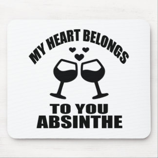 MY HEART BELONGS TO YOU ABSINTHE MOUSE PAD