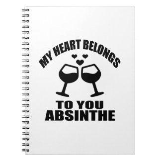 MY HEART BELONGS TO YOU ABSINTHE NOTEBOOK