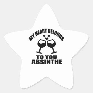 MY HEART BELONGS TO YOU ABSINTHE STAR STICKER