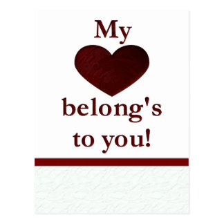 My heart belongs to you postcard