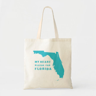 My heart bleeds for Florida blue Tote Bag