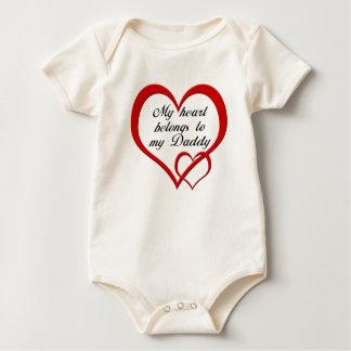 My Heart Daddy Baby Bodysuit