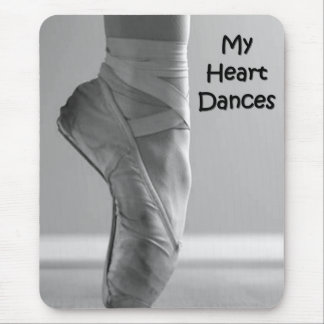 MY HEART DANCES BALLERINA SHOES MOUSEPAD