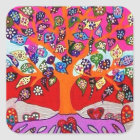 My Heart Flowers For You Tree Of Life Square Sticker