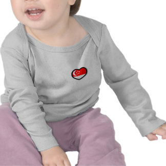 My Heart In Singapore Infant Long Sleeve Shirts