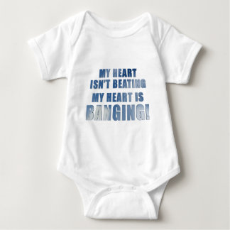 My heart is banging heavy metal ecg baby bodysuit