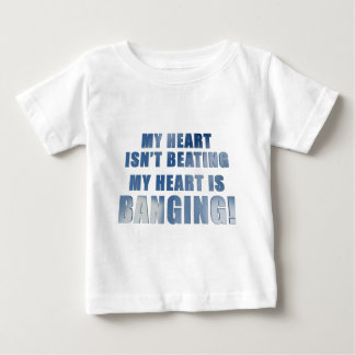 My heart is banging heavy metal ecg baby T-Shirt