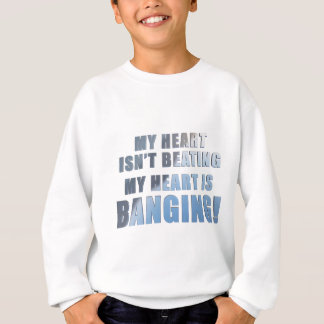 My heart is banging heavy metal ecg sweatshirt
