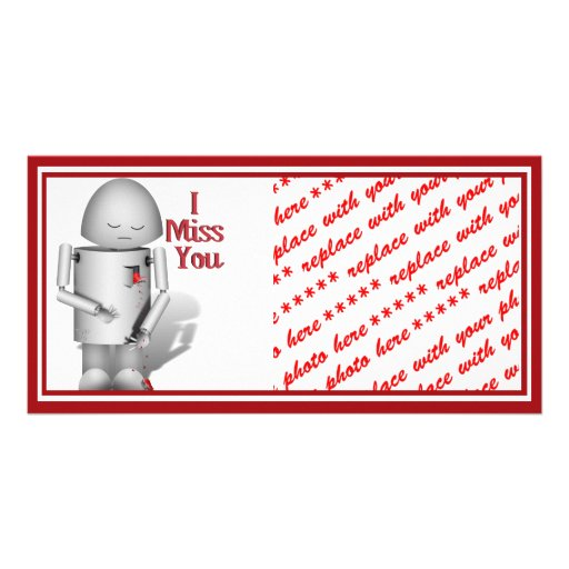 My Heart is Breaking Without You - I Miss You Photo Cards