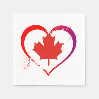 My Heart Is Home Canada Day Party Paper Napkins Paper Napkin