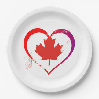 My Heart Is Home Canada Day Party Paper Plates