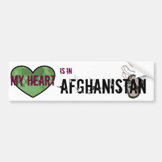 My Heart is in Afghanistan Bumper Sticker