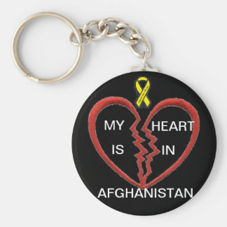 My heart is in Afghanistan Key Ring
