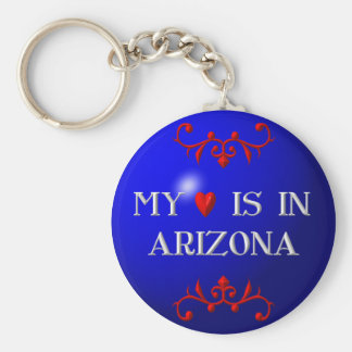 My heart is in Arizona Basic Round Button Key Ring