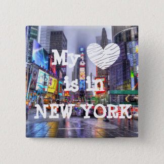 My Heart is in New York Button
