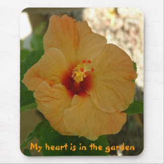 My heart is in the garden mouse pad