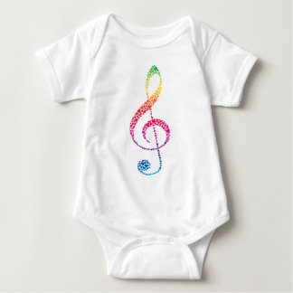 My Heart is in the Music (white) Baby Bodysuit