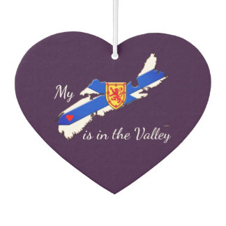 My Heart is in the valley N.S. Car Air freshener