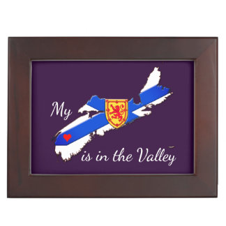 My Heart is in the valley N.S.  memory picture box