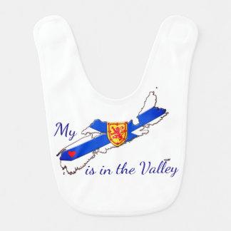 My Heart is in the valley Nova Scotia baby bib