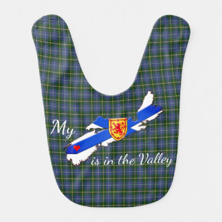 My Heart is in the valley Nova Scotia baby bib