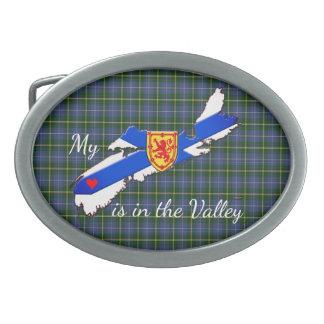 My Heart is in the valley Nova Scotia belt buckle