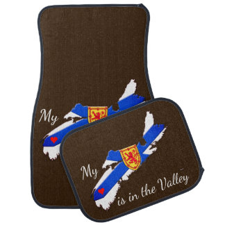 My Heart is in the valley Nova Scotia   Car Mats