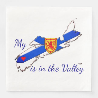 My Heart is in the valley Nova Scotia napkins Disposable Serviette
