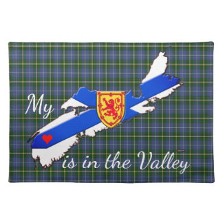 My Heart is in the valley Nova Scotia  place mat