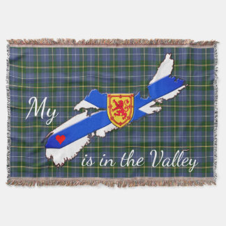 My Heart is in the valley Nova Scotia throw