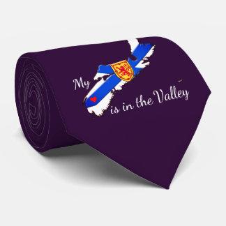 My Heart is in the valley Nova Scotia tie purple