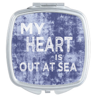 My Heart is Out at Sea Compact Mirror