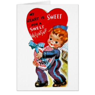 My Heart is Sweet for a Sweet Valentine Like You Greeting Card