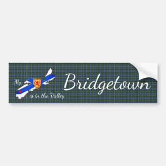 My Heart is  the valley Bridgetown bumper sticker