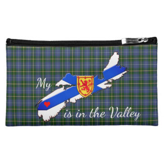 My Heart is the valley Nova Scotia cosmetic bag