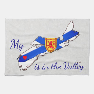 My Heart is  the valley Nova Scotia kitchen towel