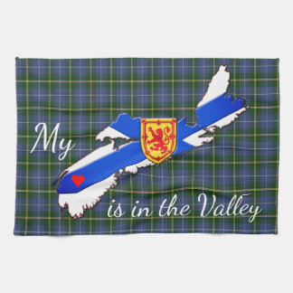 My Heart is  the valley Nova Scotia kitchen towel